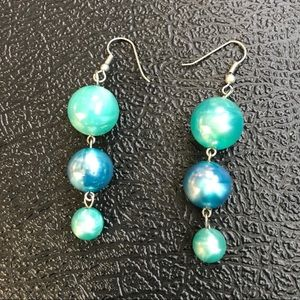 Jewelry - Teal and blue earrings
